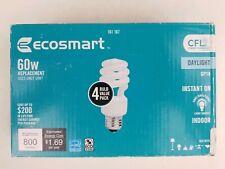 4 Pack - Ecosmart 60W Daylight GP19 - NEW