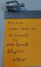 Adapter MA-COM 3080-2240-00 N (Female) to SMA (Female) NEW