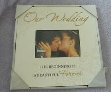 """Malden NIP Our Wedding Storyboard Picture Frame 4"""" x 6"""" Table Top"""