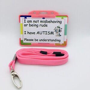 🧩 Autism Awareness-  I Have Autism Hidden Disability Awareness Card And Lanyard