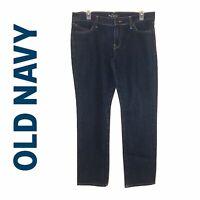 "Old Navy The Diva Skinny Jeans Women's 8  Short, 28"" Inseam Med Dark Wash"