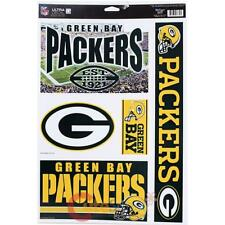 "NFL Green Bay Packers Window Clings Decal 5 Logos on 11""x17"" Auto Accessory"