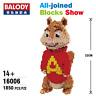 Balody-16006 Bausteine Gebäude Haustier Serie Chipmunks Spielzeug Blocks