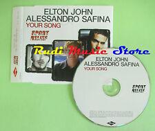 CD singolo Elton John & Alessandro Safina Your Song SPORTCJ2 PROMO no mc lp(S19)