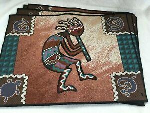 Southwest Native  Kokopelli  Placemats Table Mats Set of 4 Cloth NEW