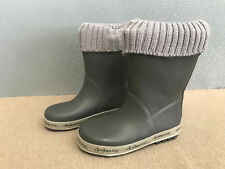 BNWT Little Boys Size 8 Rivers Doghouse Brand Grey with Fabric Top Gumboots