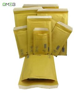AROFOL GENUINE GOLD BUBBLE PADDED ENVELOPES MAILERS BAGS-- CHOOSE YOUR SIZE