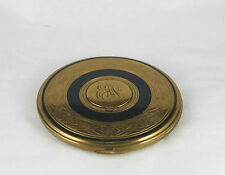 Vtg Zell Fifth Avenue Powder Compact Flapjack Monogrammed Photo Locket Top