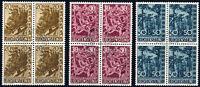 LIECHTENSTEIN 1960, MiNr. 399-401, ideal gestempelte Viererblocks, Mi. 168,-