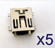 Lot 5 connecteurs à souder mini B USB - 5x solder connector SMD Socket connector