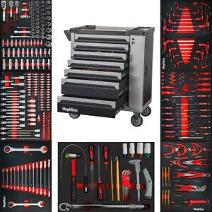 XXXL Premium Werkzeugwagen mit 7 Schubladen inkl Werkzeug CR-V in Schaumeinlagen