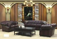 Chesterfield Couch Polst Sitz Sofa Garnitur 3+2+1 Ledersofa Sofagarnitur Oxford