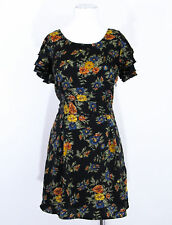 Vero Moda antique floral style tea day garden party dress size 12 RRP £22