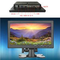 "10.1"" TFT LCD Monitor USB/HDMI/BNC/AV/VGA Input For Car/Security/Computer Screen"