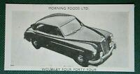WOLSELEY FOUR FORTY FOUR  Original 1950's Vintage Card