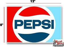 """(PC224) 12""""  '70's PEPSI FOR SODA POP VENDING MACHINE DECAL COOLER OR GUMBALL"""