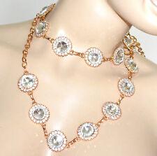 CINTURA GIOIELLO ORO donna cristalli catena metallo dorata strass elegante  BB14 13a2cc212b44
