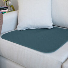 "Comfortnights Terciopelo Azul Almohadilla Absorbente silla de ruedas 50 X 40 CMS 19 1/2 ""X 16"""
