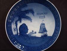 Royal Copenhagen 1978 James Cook Hawaii 1778-1978 Commemorative Collector Plate