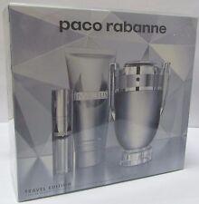 Paco Rabanne INVICTUS EDT 100ml 3.4oz + Shower Gel 100ml + Travel Spray 10ml SET