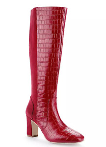 LADIES KALEIDOSCOPE RED SEUDE AND FAUX CROC BOOTS UK 6 NEW