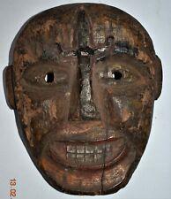 "orig $499 Nepal Shamans Mask, trident Early 1900S 10"" Prov"