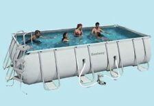 piscina PVC telaio metallo fuori terra 15800 lt 576x274x122 antiruggine resiste