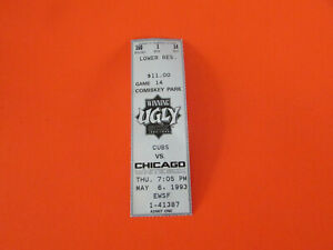 1993 CHICAGO WHITE SOX VS CHICAGO CUBS TICKET STUB COMISKEY PARK 5-6-93