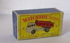 Repro Box Matchbox 1:75 Nr.03 Bedford Tipper Truck