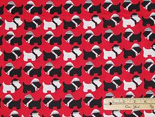Jingle Scotty Dog Scottish Terrier Christmas Fabric by 1/2 Yard  #15269