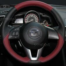 Stylish Leather Steering Wheel Cover Wrap for Mazda 3 M3 M6 CX-3 CX-5 CX5 13-17