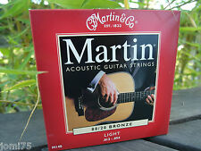 Jeu corde acoustique Martin USA 12-54  80/20 Bronze LIGHT GUITARE FOLK M140 */*