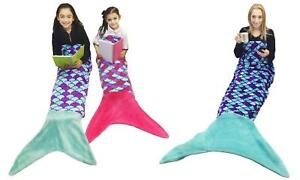 Mermaid Tail Fleece and Sparkly Sofa Beach Blanket Kids & Adult