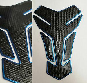 Tankpad Tankschutz Motorrad Carbon Optik Blau Schwarz universal Honda Yamaha
