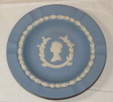 "Wedgwood Made in England Commemorative Ashtray Queen Elizabeth Feb 1975 6 7/8"" ~"