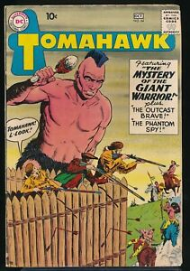 TOMAHAWK No. 64 1959 DC Western Comic Book The MYSTERY of the GIANT WARRIOR VG