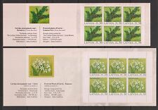 Latvia Flowers 2 Booklets, Mi#588, 632 (Markenheftchen), MNH**, OG, VF