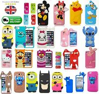 Brand New 3D Cute Kids Disney Animal Silicone Back Case For iPhone Samsung