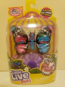 Little Live Pets Lil' Butterfly Blue Pink Rare Wings Hearts Flower Toy NEW