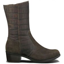UGG® AUSTRALIA 1004219 LOU CROCO BROWN CALF BOOTS UK 6.5 EUR 39 USA 8 RRP £225