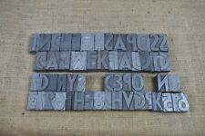 Assorted peices of Letterpress Printer's Metal Type, Possibly Futura as photo.