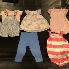 Lot of 4 Baby Girl Outfits Size 6-9 Month: 1 & 2 Piece Carter's, KoalaKids