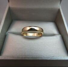 14k Yellow Gold Marked FOREVER Wedding Band Solid 3.84g Size 7 Ring 4mm Wide