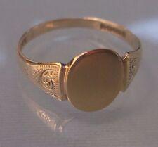Men's/Women's 9ct Gold Vintage Signet Ring Weight 1.46g Ring Size Q Hallmarked