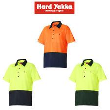 Mens Hard Yakka Koolgear Hi-Vis 2 Toned Short Sleeve Vented Polo Shirt Y11396