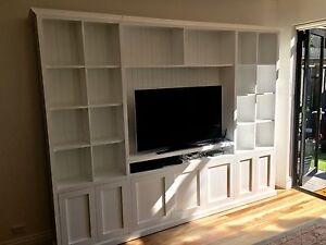"""Kellyville-1.0"" Classic Integrated TV Wall Unit Bookshelf Storage Cupboard"