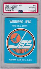 1979 O-PEE-CHEE #81 WINNIPEG JETS EMBLEM CHECKLIST PSA 8 NM/MT OPC centered!