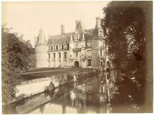 France, Montreuil-sur-Loir, le château vue générale  vintage albumen print T