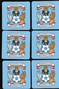 COVENTRY CITY F.C. Pack of Official Crested Beer Mats / Coasters FREE POST UK