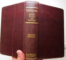 Surveying: Theory & Practice, 2nd Ed., Davis, Foote & Rayner, 1934, McGraw-Hill